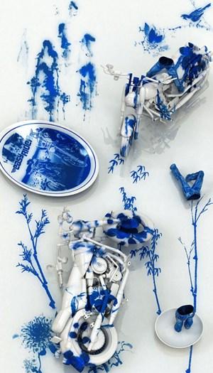 Blue Jean Blues – Easy Rider by Kim Joon contemporary artwork