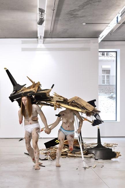 Fucked Couple by Tony Matelli contemporary artwork