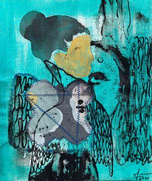 Face of Gold by Marina Cruz contemporary artwork