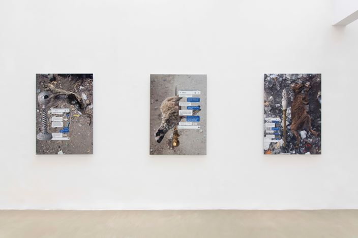 Exhibition view: Hassan Khan, Sentences for a New Order, Galerie Chantal Crousel, Paris (18 April–18 May 2019). Courtesy the artist and Galerie Chantal Crousel, Paris. Photo: Martin Argyroglo.