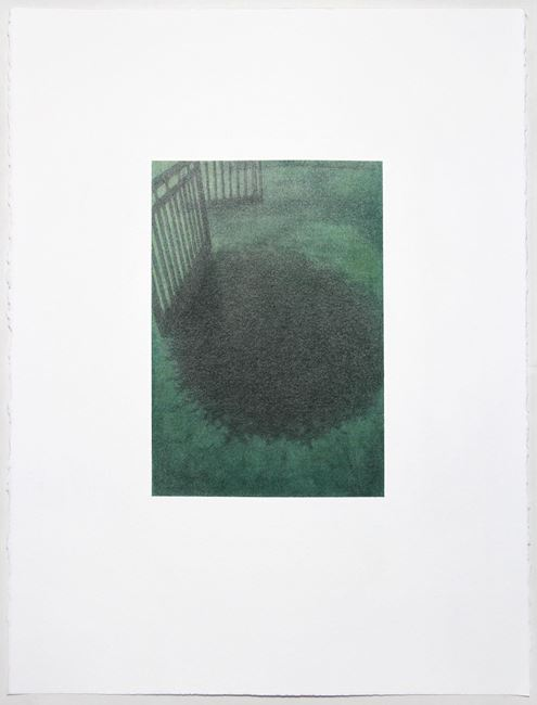 Shoegazer (green spill) by Andrew Browne contemporary artwork