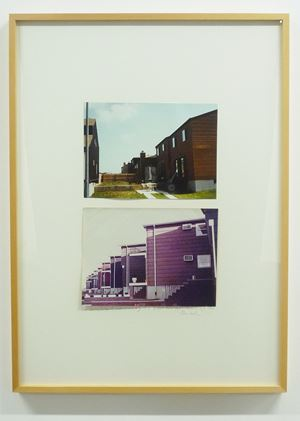 Top: Housing Development, Staten Island, N.Y., 1978 Bottom: Tract Houses ,Bayonne, N.J., 1966 by Dan Graham contemporary artwork