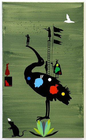 Ibis Waits by Chris Heaphy contemporary artwork