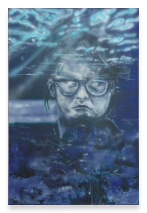 Anna Under Water by Sophie Gogl contemporary artwork painting