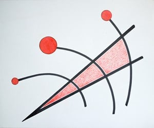 Fără titlu (Linia) [Untitled (The Line)] by Geta Brătescu contemporary artwork