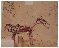 Untitled (from the Series: Das Trojanische Pferd) by Martha Jungwirth contemporary artwork painting, works on paper