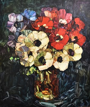 Flower Painting by Dick Frizzell contemporary artwork