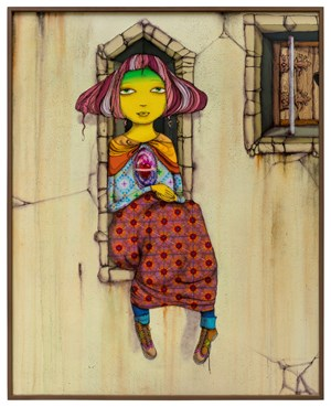 When the leaves turn yellow by OSGEMEOS contemporary artwork