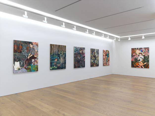 Exhibition view: Hernan Bas, Insects from Abroad, Galerie Perrotin, Tokyo (18 January–11 March 2018). Courtesy Galerie Perrotin, Tokyo. Photo: Kei Okano.