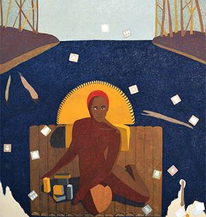 Journeyman II by Mequitta Ahuja contemporary artwork