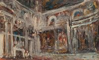 Melancholic Interior by Ioana Batranu contemporary artwork painting