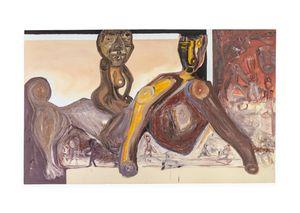 The Supreme Deity Osan-Oduwa Mounting the Back of the Anthropomorphic Oba by Phoka Nyokong contemporary artwork