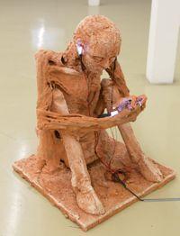 """Annäherungen an """"...bin im Netz 3.0/F1 by Rosmarie Lukasser contemporary artwork sculpture"""