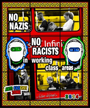 Anti-Fascist Zone by Gilbert & George contemporary artwork