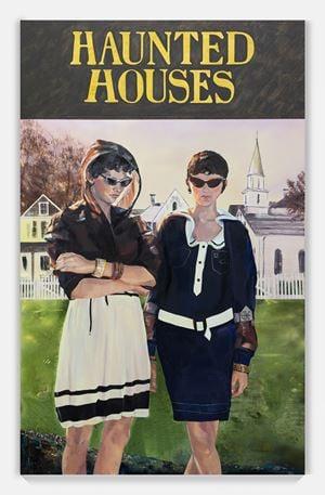 Haunted Houses by Paulina Olowska contemporary artwork painting