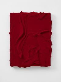 Thysia (Quinacridone red / Quinacridone scarlet) by Jason Martin contemporary artwork painting, sculpture