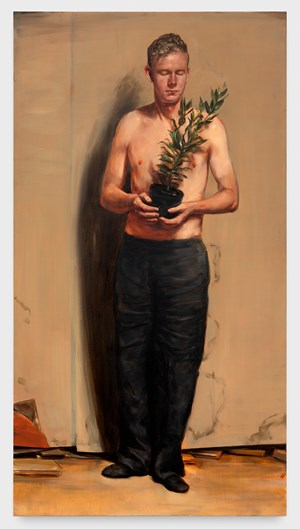 The Laurel by Michaël Borremans contemporary artwork