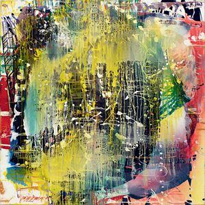Black Hole (Yellow Convex) by Jackie Saccoccio contemporary artwork