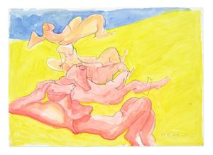 Untitled by Maria Lassnig contemporary artwork