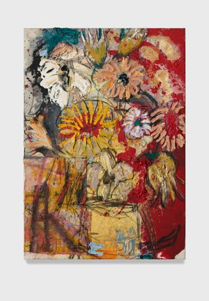 Flowers 10 (red and yellow) by Daniel Crews-Chubb contemporary artwork