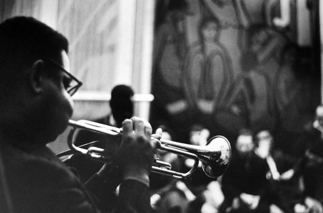 Dizzy Gillespie at Yoors' studio loft by Estate Of Jan Yoors contemporary artwork