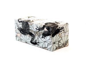 Ceramic Box_Frogs by Masako Inoue contemporary artwork sculpture, ceramics