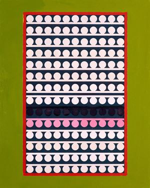 Code 24 by Lubna Chowdhary contemporary artwork painting, works on paper