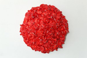 Untitled (red) by Dani Marti contemporary artwork