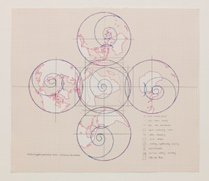 World Map - Arctic Fox Arc - Temperature War by Inga Svala Thórsdóttir & Wu Shanzhuan contemporary artwork