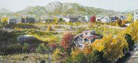 Study of Green-Seoul-Vacant Lot-Songhyeon-dong 2 by Honggoo Kang contemporary artwork painting