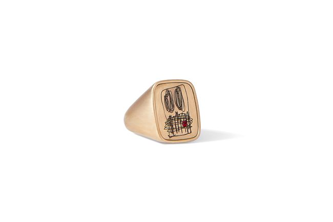 Gold Signet Ring from 'Anxious Men' by Rashid Johnson contemporary artwork