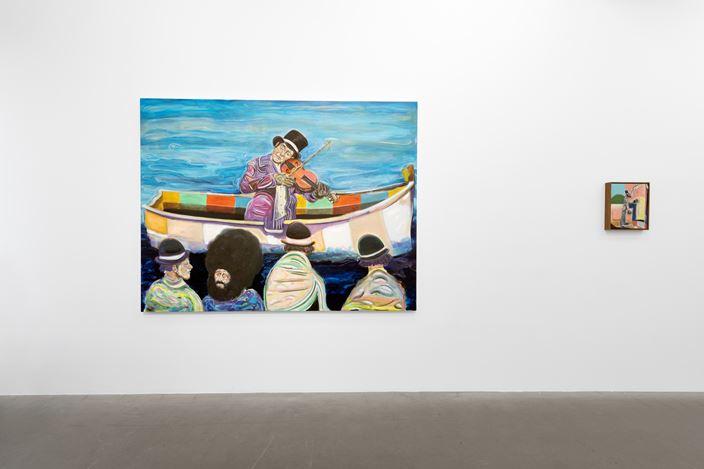 Exhibition view: Ryan Mosely, A planets revolution, Galerie EIGEN + ART, Berlin (24 October–30 November 2019). CourtesyGalerie EIGEN + ART, Berlin. Photo: Uwe Walter, Berlin.