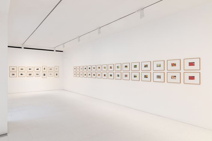 Exhibition view: Gerhard Richter, Overpainted Photographs, Gagosian, Davies Street, London (9 April—8 June 2019). © Gerhard Richter 2019 (09042019). Courtesy the artist and Gagosian. Photo: Lucy Dawkins.