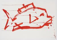 Ocean Drawing 2 by Joan Jonas contemporary artwork painting, works on paper, drawing
