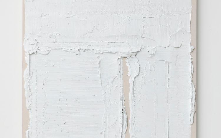 Yutaka Aoki, Untitled (2021) (detail). Acrylic, spray paint on cotton mounted on panel. 162 x 130.3 cm. Courtesy KOSAKU KANECHIKA, Tokyo.