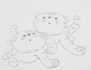 Little Tigers by Song Ta contemporary artwork