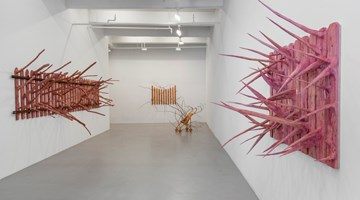 Contemporary art exhibition, Hugh Hayden, Border States at Lisson Gallery, 10th Avenue, New York