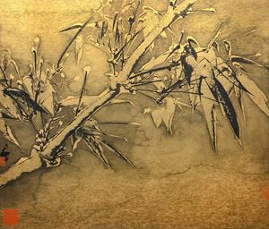 Bamboo in Snow No. 3 《雪竹圖之三》 by Zheng Li contemporary artwork