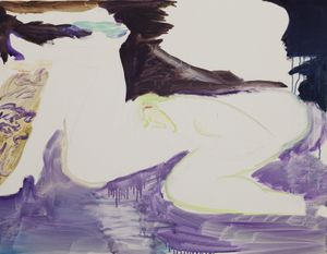 Woman Lying Down by Yan Bingqian contemporary artwork