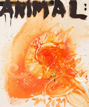 """DAS MANDARINENMANDAT MIXT DICH!"" by Jonathan Meese contemporary artwork"