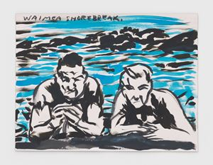 No Title (Waimea shorebreak.) by Raymond Pettibon contemporary artwork
