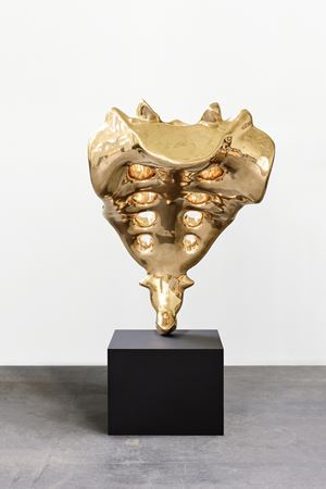 Tailbone (golden) by Elmgreen & Dragset contemporary artwork