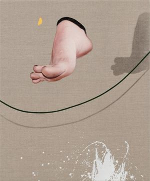 Woman Jumping Rope by Chi Chien contemporary artwork