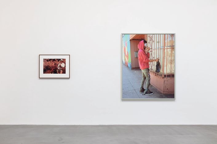 Exhibition view: Group Exhibition, American Pastoral, Gagosian, Britannia Street, London (23 January–14 March 2020). Artwork, left to right: © Richard Prince, © Jeff Wall. Courtesy Gagosian. Photo: Lucy Dawkins.