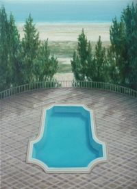 Untitled (Pool 1) by Melanie Siegel contemporary artwork painting