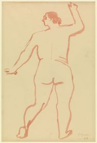 Standing Female Figure by Henry Moore contemporary artwork works on paper