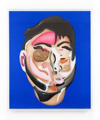 Head Study From The Lobster Land Museum (Blue) by Philip Colbert contemporary artwork painting