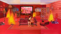 Home Sweet Home: Feng Shui Painting, Fire 4 by Mak Ying Tung 2 contemporary artwork painting