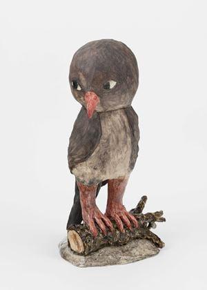 Sparrow by Klara Kristalova contemporary artwork sculpture