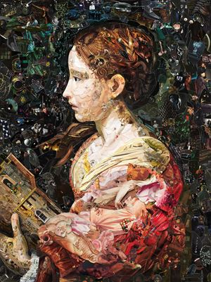 Imaginaria: Saint Barbara by Vik Muniz contemporary artwork